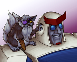 Pirate cats and giant robots! by RazzieMbessai