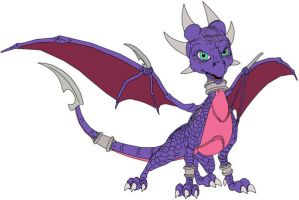 Cynder the Dragon w. colour by Cyber-Toaster
