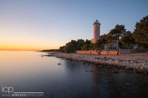 Lighthouse at island Vir by ivancoric