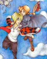 Howl and Sophie-Shall we dance by penguinfaery
