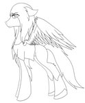 Pegasus Under Control Colorless by KATEtheDeath1