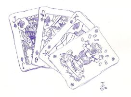 Wario Poker Cards by squirrelman92