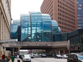 Glass junction between mall and hotels 1 by sakaphotogrfx