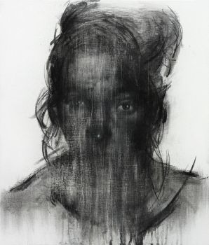 [113] Untitled Charcoal and Conte On Canvas 53.2 by ShinKwangHo