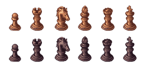 Chess Pieces by AtskaHeart
