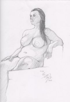 Figure Drawing Session 4 - Sitting Pose by BrandonPanagakos