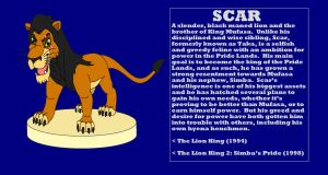 Character Info: Scar (The Lion King) by kylgrv