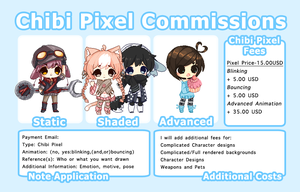 [OPEN] Chibi Pixel Commissions by megiemu