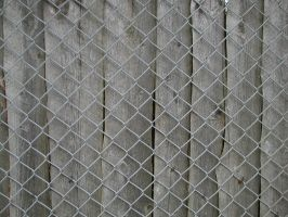 chainlink fence and wood by Exor-stock