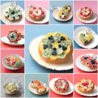 Miniature Food - Fruit Tart Jewelry Old Version by PetitPlat