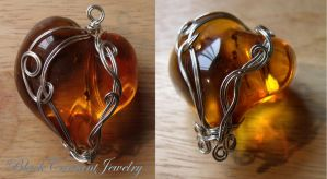 Amber Heart by blackcurrantjewelry