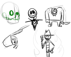 Assorted Sketches by AnonymousCynic