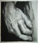 Michelangelo's Statue of David Charcoal Hand Study by hglucky13
