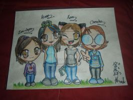 My friends and me :D by Valkoinen-Hirvi