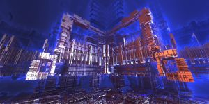 Night CityScape - Mandelbulb 3D by FireSnake666