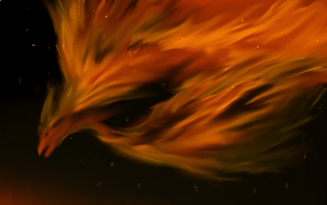 Bird of Flame by puddlecat1