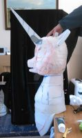 Nightmare Moon head WIP by MadHamsterCostumes