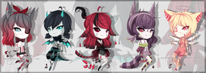 Mixed prices- adopts CLOSED by PurrineeAdopts