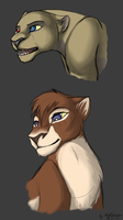 Ugly lionesses by MadKakerlaken