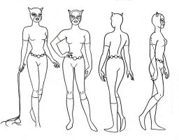 Catwoman Model Sheet III by Nes44Nes