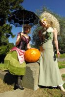 Jesus Pumpkin with Victorians by longleather