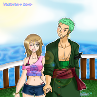 One Piece Request: Victoria + Zoro by zoro4me3