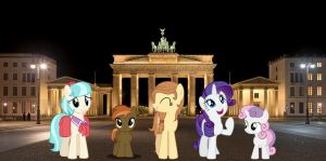 Button Mash, Sweetie Belle and Rarity takes Berlin by Phi1997