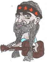 Willie Nelson Caricature. by Buhla