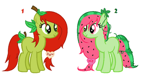 Guessing contest 2# Fruit pony friends - closed by Kiara-the-panther