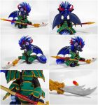 Dragon samurai - Master - SOLD by CuteDragonsAndMore