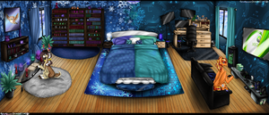 Commission - Tech and Jingles Bed Room Re-Design by NekoMellow