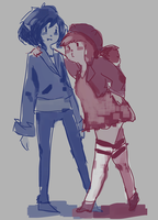 marceline and bonnibel by peachtealattes