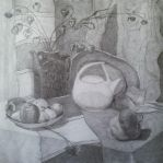 Still life in pencil by Luzblanca