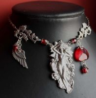 Goddes pendant necklace by Pinkabsinthe