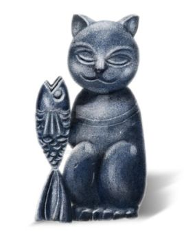 Cat statue by bunaioding