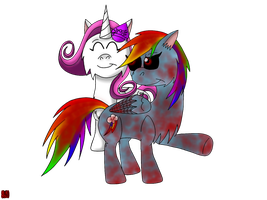 Request-Rarifruit And Rainbow Dash.exe... by skylanderlover68
