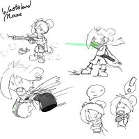 Wasteland Mouse sketches by Kaittycat
