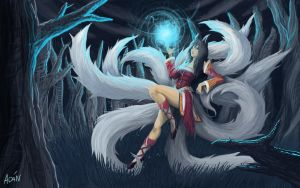 Ahri League of Legends by ahanblazer
