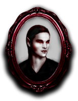 Realistic Drawing -Vampire Portrait '1 Red by angelicetherreality