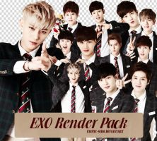 [PNGset19] EXO for 'Let's BONGx3 Together' Game by exotic-siro