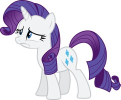 Worried Rarity Vector by Thorinair
