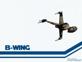 B-Wing Wallpaper by Aideon