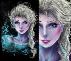 Realistic Styled Elsa by Charkiin