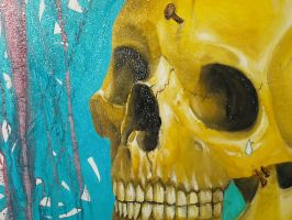 skull on canvas by GustavoAragao