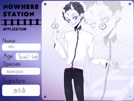 Nowherestation App: Aki by milqo