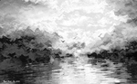 Seagulls Over The  Bay  Greyscale by Nigel-Hirst