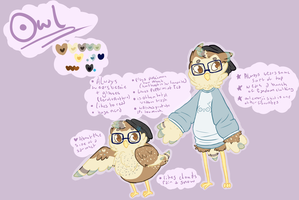 Owl Reference Sheet by RubySpades