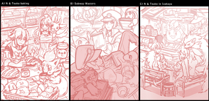 Pokemon BW- thumbnails by kissai