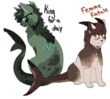 Sharkie siblings adopts (1/2 Open) by Ravynflight
