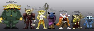 The Seven Lombax Generals by shinragod